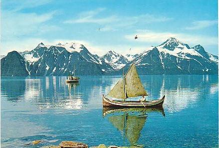 Vessels on the Lyngen fiord outside Djupvik