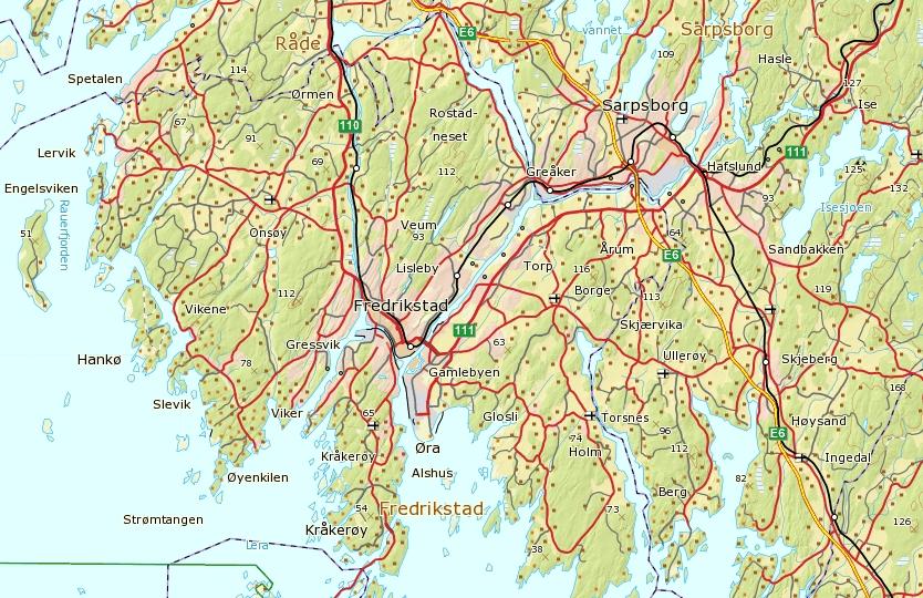 kart over østfold Pedersen og Paulsen slekta fra Vågå kart over østfold